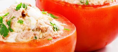 Gato Receta Típica Chilena Tomates Rellenos