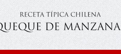 Gato Receta Típica Chilena Queque de Manzanas