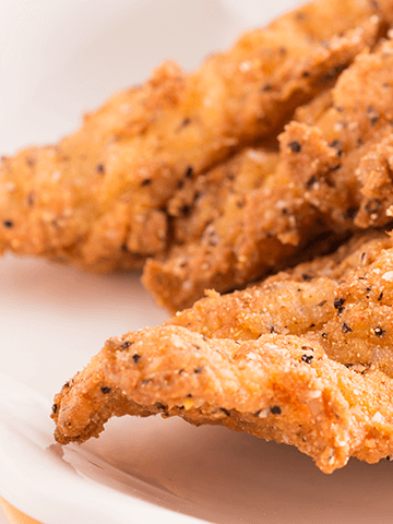 Congrio Frito con Crema de Erizos