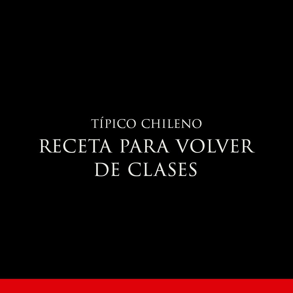 RECETAS PARA VOLVER DE CLASES