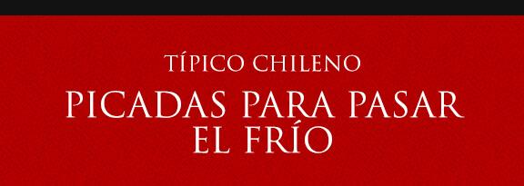 Gato Típico Chileno PICADAS PARA PASAR EL FRÍO