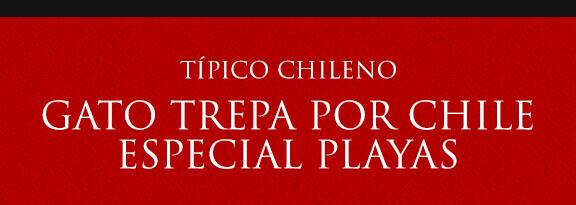 Gato Típico Chileno GATO TREPA POR CHILE: PLAYAS